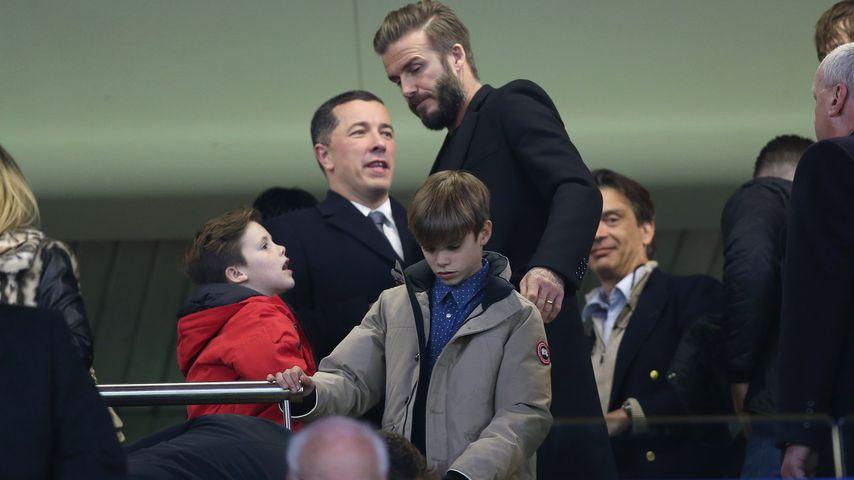 Herrentag! David Beckham mit seinen Söhnen on Tour