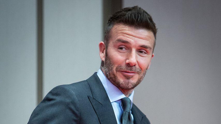 David Beckham auf einem Event in Madrid