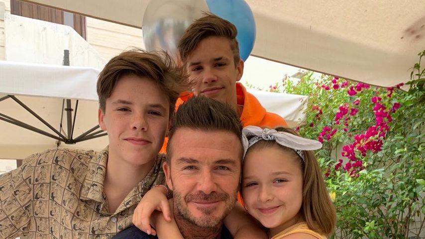 Süße Schnappschüsse: Die Beckhams feiern Vatertag in Spanien