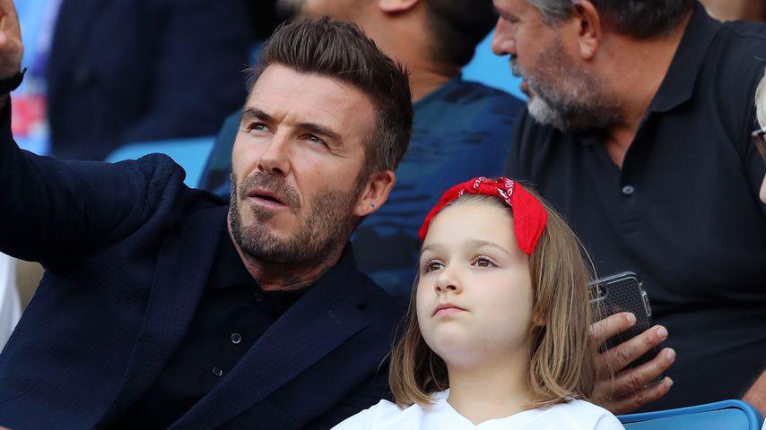 David Beckham und Tochter Harper Seven im Juni 2019