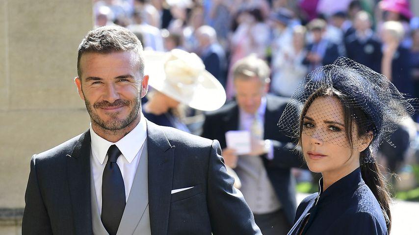 David Beckham und Victoria  Beckham im Mai 2018