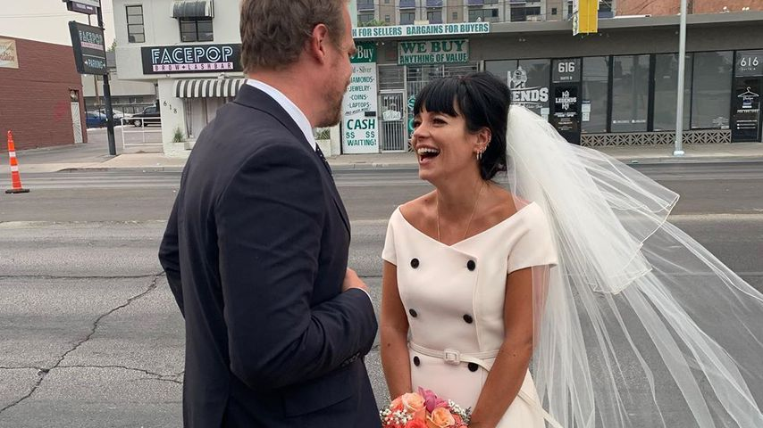 David Harbour und Lily Allen nach ihrer Hochzeit, September 2020