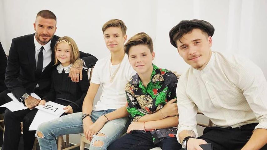 David, Harper, Romeo, Cruz und Brooklyn Beckham