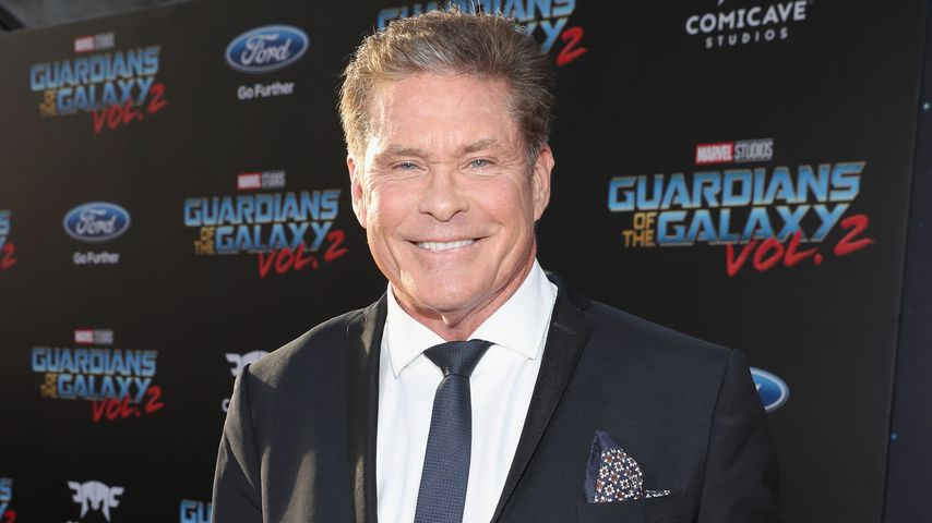 "David Hasselhoff auf der ""Guardians of the Galaxy Vol. 2""-Premiere in Hollywood"