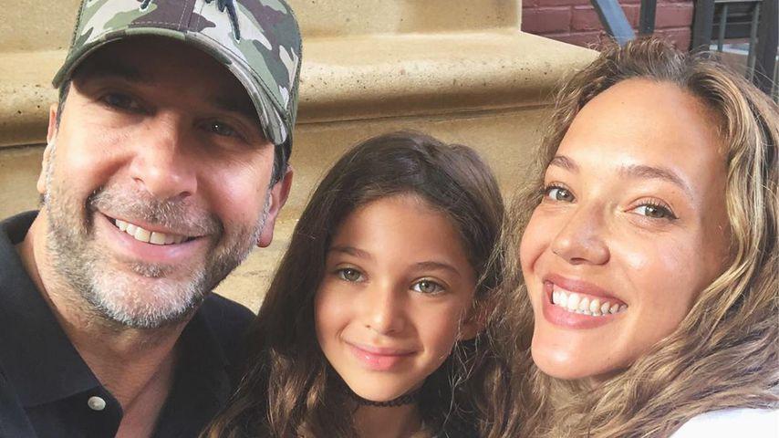 David Schwimmer mit seiner Tochter Cleo und Zoe Buckman