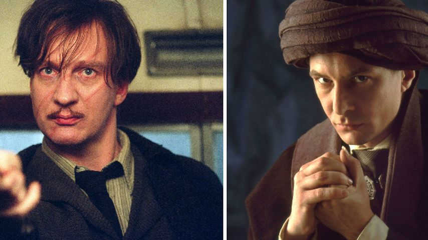 "David Thewlis als Remus Lupin und Ian Hart als Professor Quirrell in ""Harry Potter"""