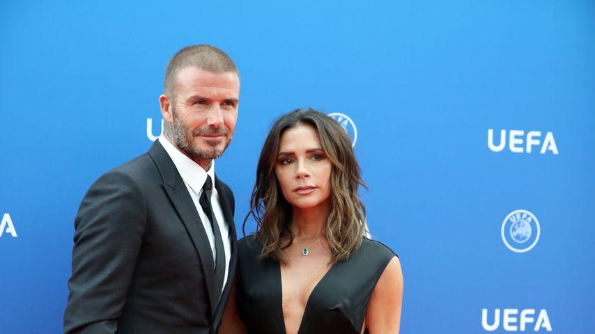 David und Victoria Beckham bei einer Veranstaltung in Monaco, 2018
