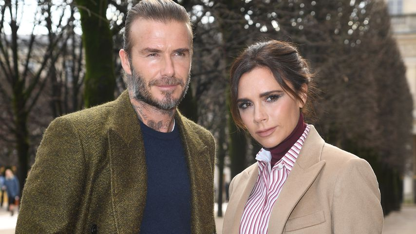David und Victoria Beckham während der Fashion Week in Paris