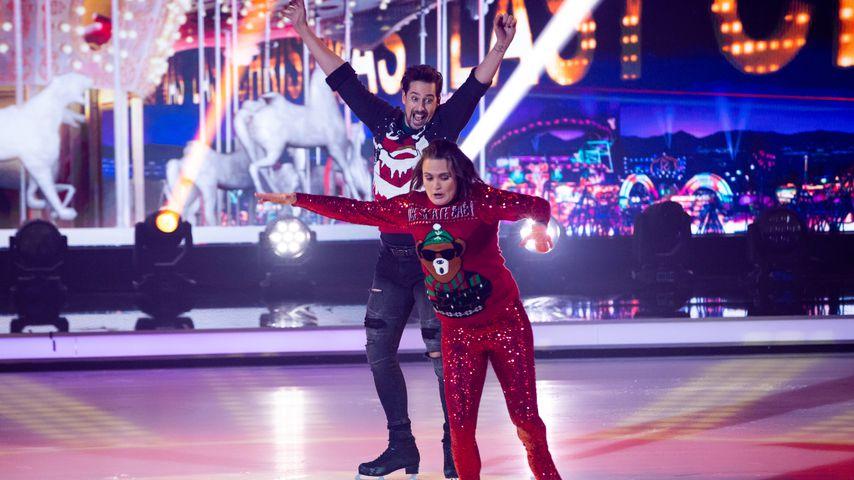 """David Vincour und Nadine Angerer bei """"Dancing on Ice"""" 2019"""
