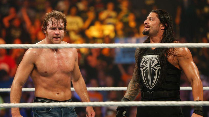 Dean Ambrose und Roman Reigns beim WWE SummerSlam 2015