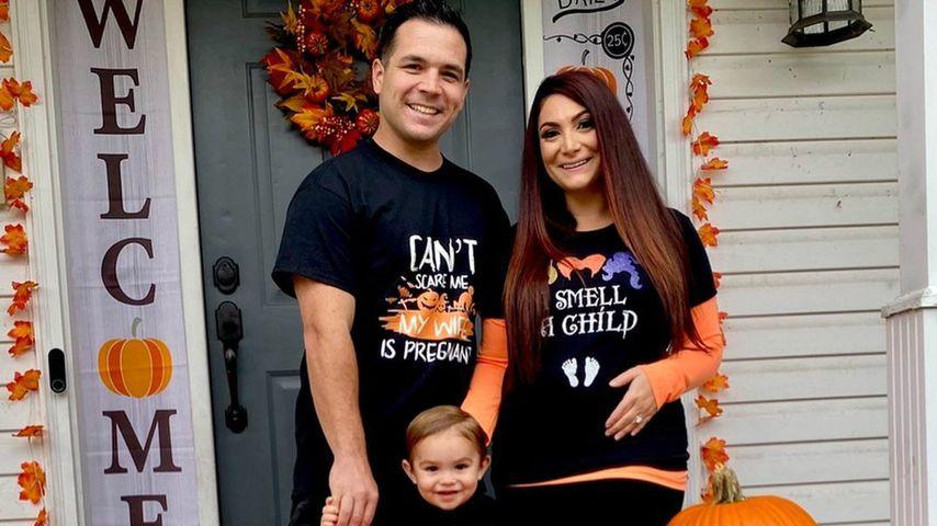 Deena Nicole Cortese mit ihrer Familie, Oktober 2020