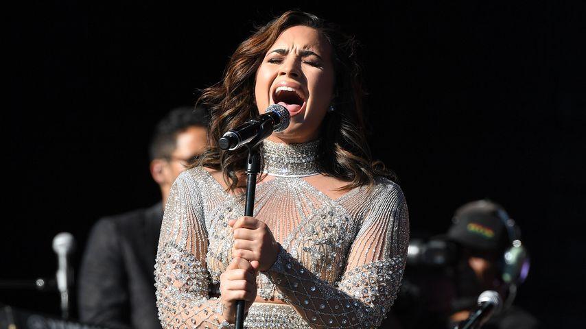Demi Lovato bei einem Auftritt in New York