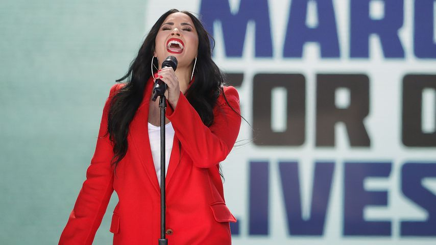 Demi Lovato bei einem Auftritt im Rahmen des March for Our Lives im März 2018