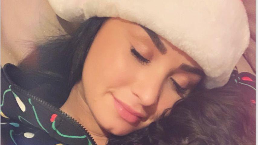 Demi Lovato und ihr Hund, Weihnachten 2018