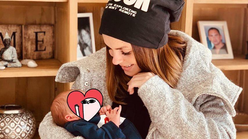Erster Monat mit Baby: Denise Kappès schwebt im Mama-Glück