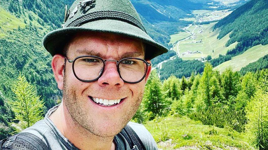 Dennis Schick bei seiner Alpenüberquerung im Juni 2021
