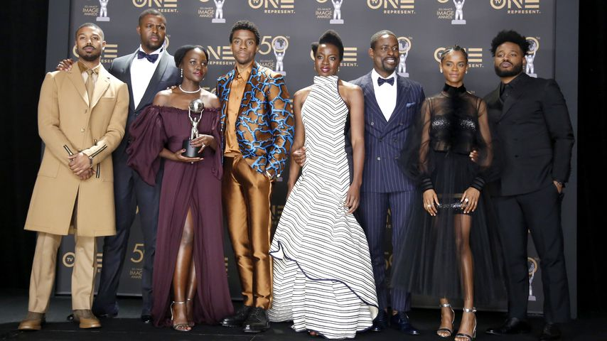 "Der Cast von ""Black Panther"" bei den Naacp Image Awards in Hollywood im März 2019"