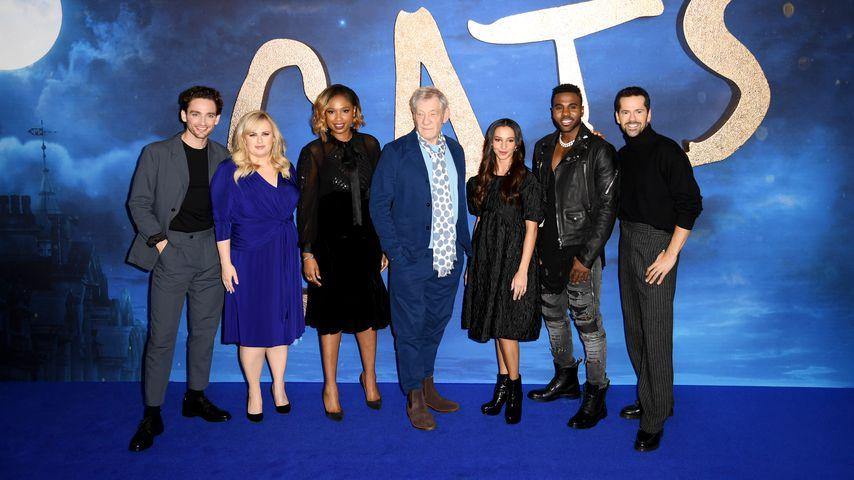"""Der """"Cats""""-Cast bei der Weltpremiere in New York, Dezember 2019"""