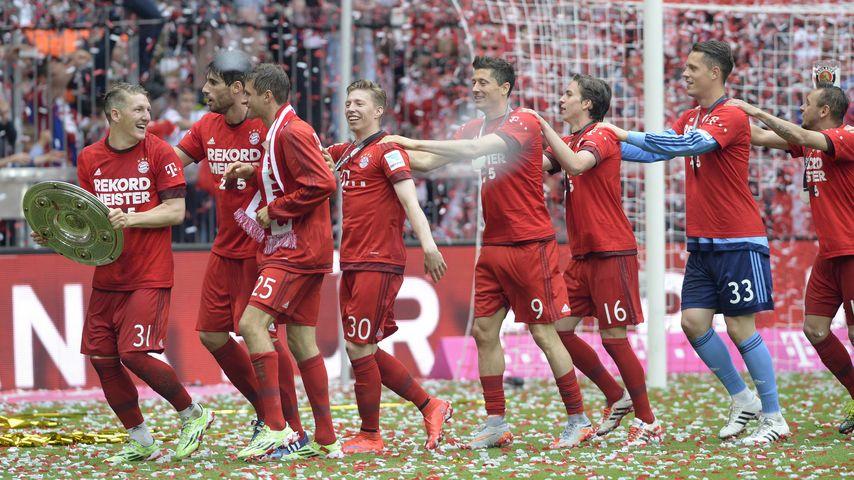 Die besten Party-Pics: So feiern die Bayern ihren Titel