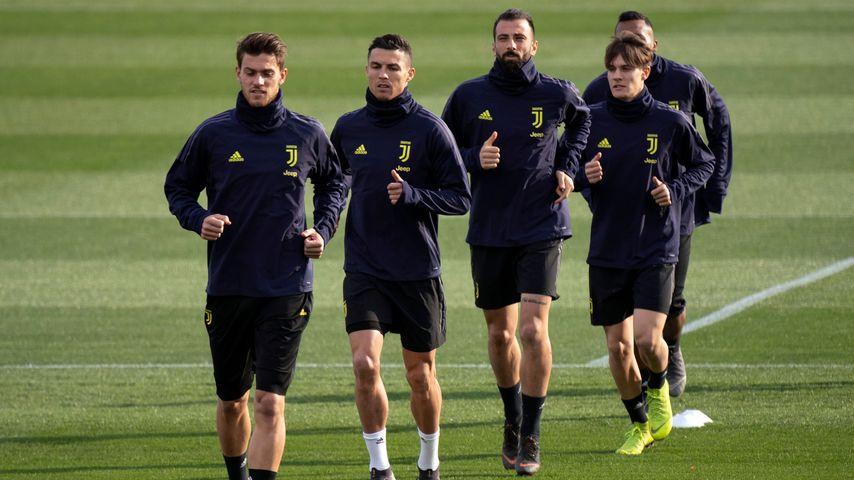 Der Juventus-Turin-Kader beim Training, März 2019