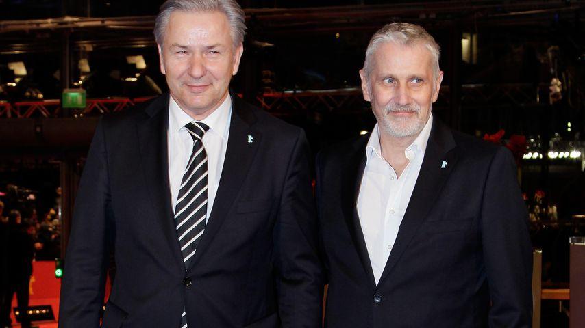 Der Politiker Klaus Wowereit und Jörn Kubicki in Berlin