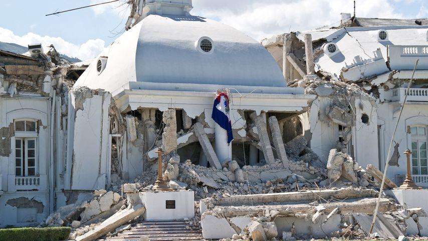 Der Präsidentenpalast in Port-au-Prince, Haiti, nach dem Erdbeben 2010