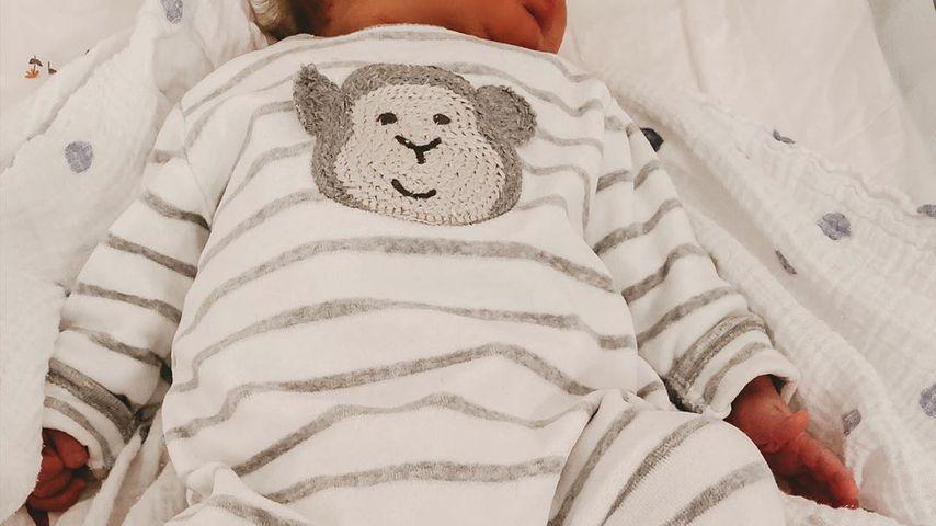 Diana Junes Sohn Adrian mit drei Wochen