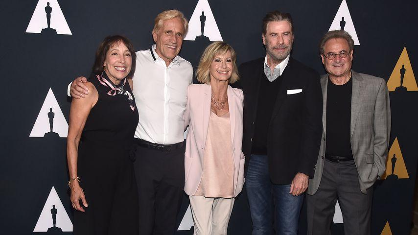 Didi Conn, Randal Kleiser, Olivia Newton-John, John Travolta und Barry Pearl 2018 in Beverly Hills