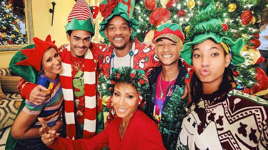 Will Smith & Familie werden zu kunterbunten Weihnachts-Elfen
