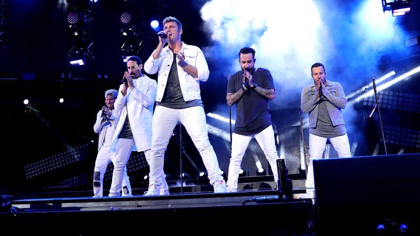 Die Backstreet Boys bei einem Konzert in Los Angeles