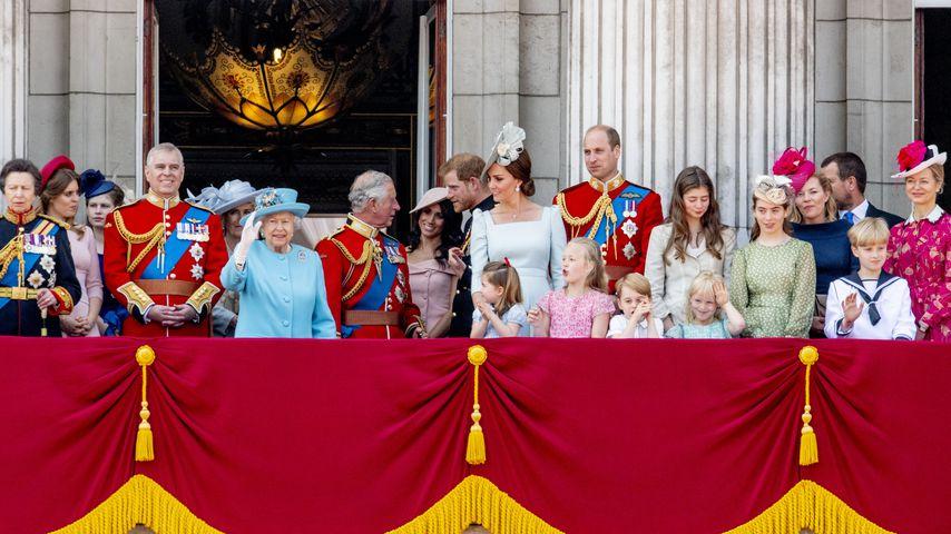 Die Britische Königsfamilie auf dem Balkon des Buckingham Palace
