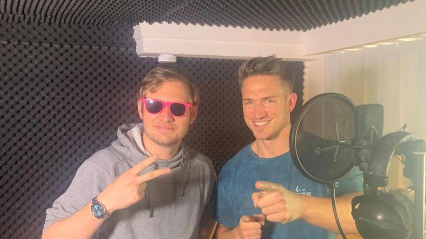 Die BTN-Stars Falko Ochsenknecht und Patrick Fabian im Studio