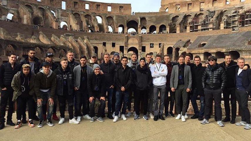 Die deutsche Fußballnationalmannschaft in Rom