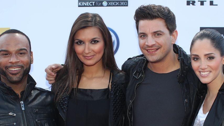 X Factor-Finalisten versuchen sich als Quartett
