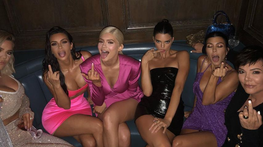 Khloe Kardashian, Kim Kardashian, Kylie Jenner, Kendall Jenner, Kourtney Kardashian und Kris Jenner