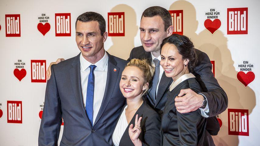 Aufgerappelt: Wladimir Klitschko & Hayden strahlen wieder