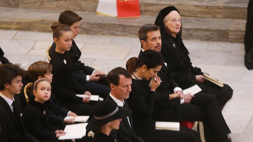 Die dänischen Royals beim Trauergottesdienst von Prinz Henrik