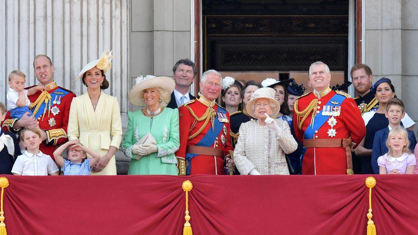 Die britische Königsfamilie bei der Trooping-the-Colour-Zeremonie, 2019