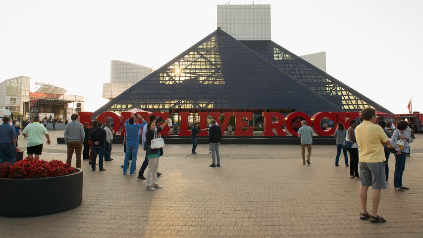 Die Rock and Roll Hall of Fame in Cleveland, Ohio