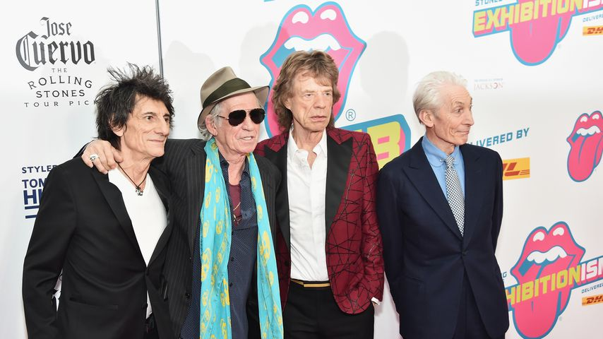 Die Rolling Stones: Ronnie Wood, Keith Richards, Mick Jagger und Charlie Watts