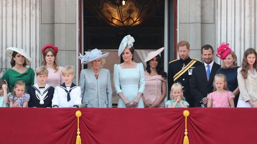 Die royale Familie auf dem Balkon des Buckingham Palace