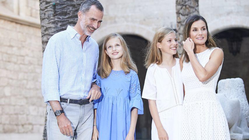Die spanische Königsfamilie im Almudaina Palace auf Palma