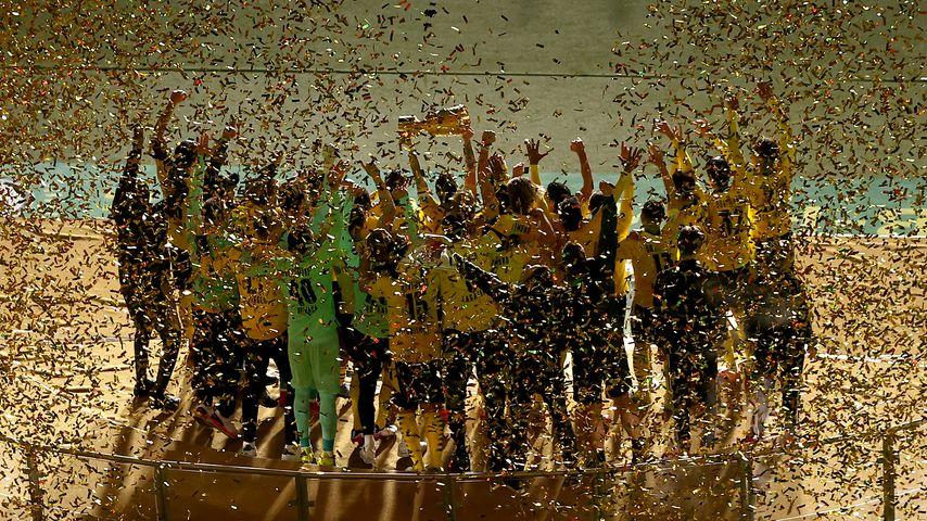 Die Spieler von Borussia Dortmund nach dem DFB-Pokalfinale 2021