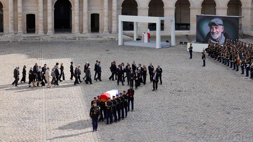 Die Trauerfeier von Jean-Paul Belmondo in Paris im September 2021