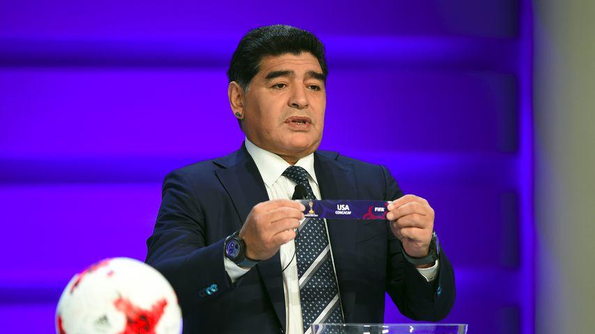 Diego Maradona im März 2017 in Suwon, Südkorea
