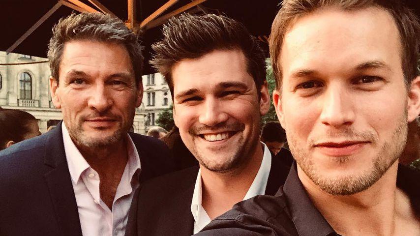 Dieter Bach, Max Beier und Florian Frowein (v.l.) beim Bavaria Film Fest in München