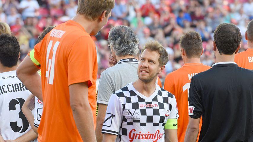 """Dirk Nowitzki und Sebastian Vettel beim """"Champions for Charity""""-Benefizspiel"""