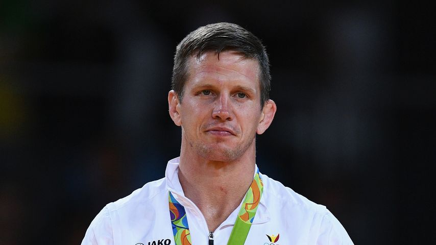 Dirk van Tichelt beim Gewinn der Bronze-Medaille