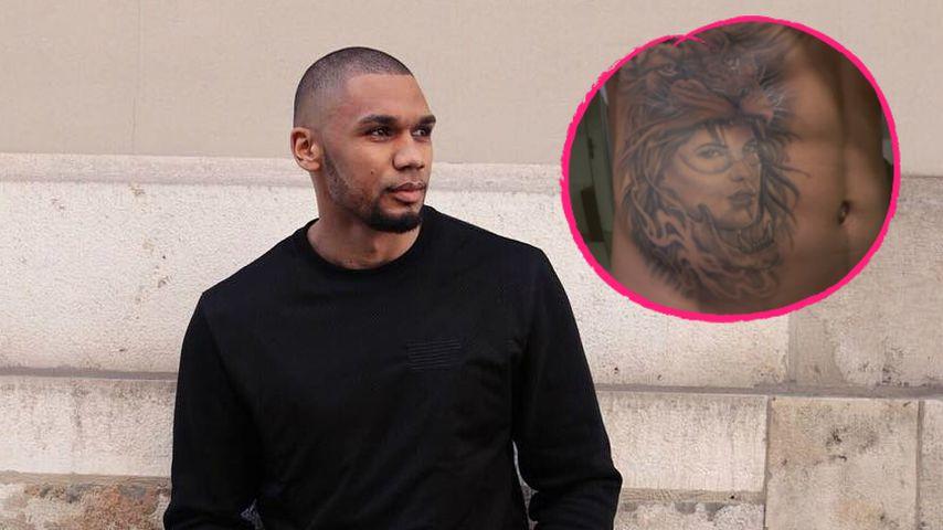 Endlich fertig: Hier zeigt Domi Harrison sein Sarah-Tattoo!
