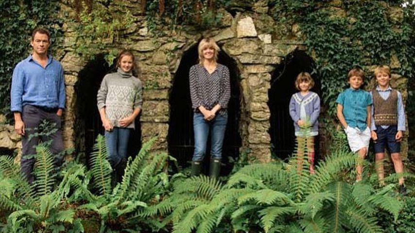 Dominic West mit seiner Familie auf Schloss Glin